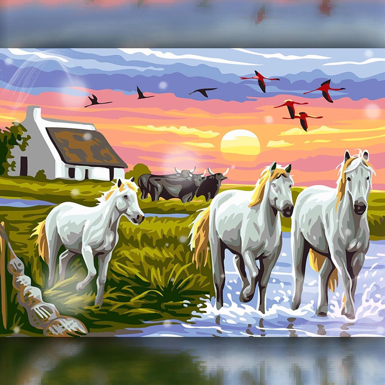 TWD20005 Набор алмазной вышивки Табун лошадей