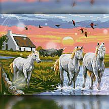 TWD20005 Набор алмазной вышивки Табун лошадей, фото 2