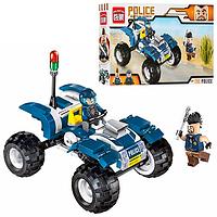 Конструктор BRICK полиция, квадроцикл, фигурки 2шт. 1908 139 деталей