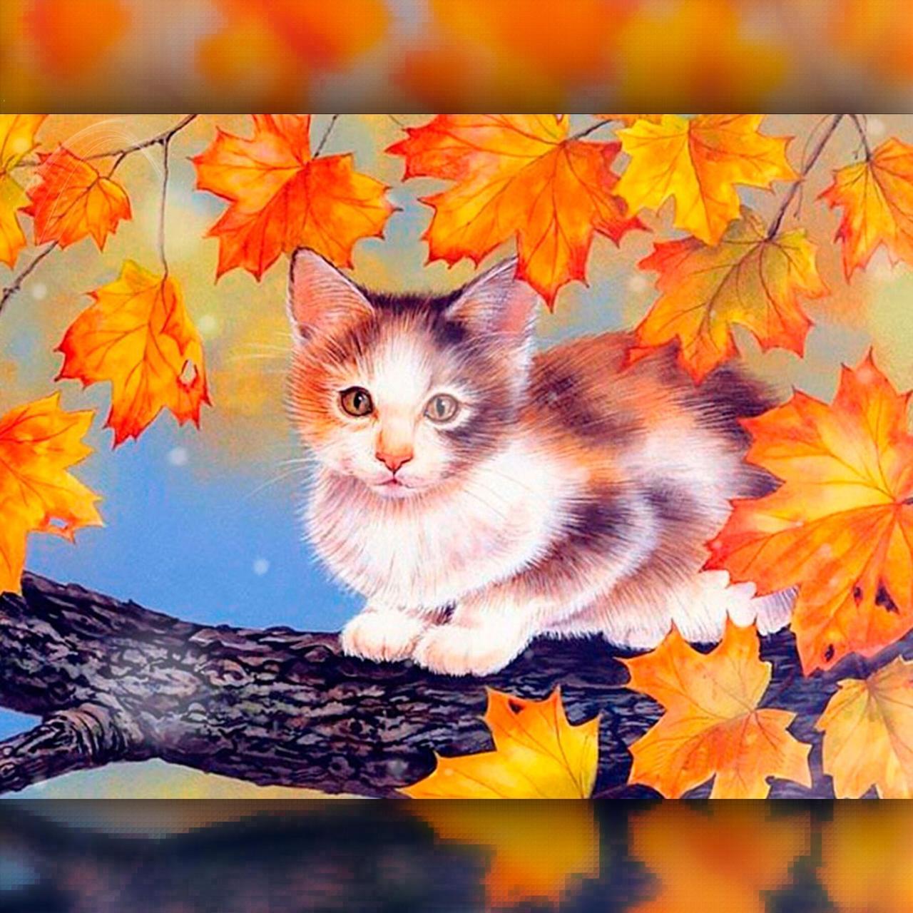 TWD20025 Набор алмазной вышивки Котик на дереве