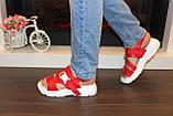 Босоножки женские красные Б503, фото 6