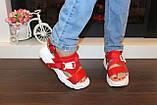 Босоножки женские красные Б503, фото 8