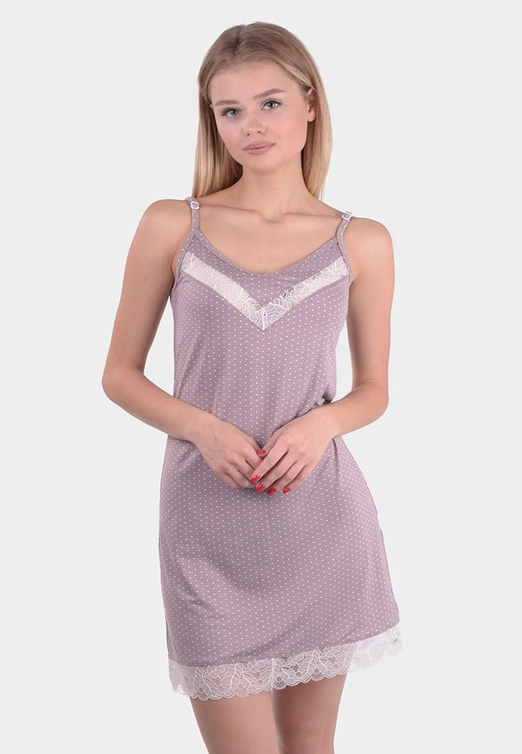 """Ночная рубашка женская вискоза  (44-56) """"N.EL"""" LM-1042"""