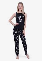 """Пижама женкая со штанами 100% хлопок  (42-52) """"N.EL"""" LM-1042"""