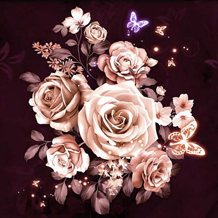 DM-345 Набор алмазной мозаики Розы чайные, фото 2