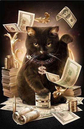 DM-347 Набор алмазной мозаики Нежный кот, фото 2