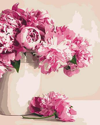 КНО2931 Раскраска по номерам Бархатные пионы, Без коробки, фото 2