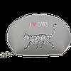 Пенал косметичка cat lover серая эко-кожа zibi zb.702204