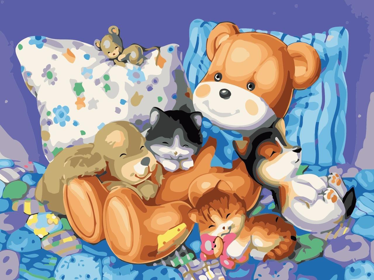 AS0619 Картина-набор по номерам Сладкий сон, Без коробки