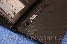 Портмоне мужское кожаное чёрное вертикальное Karya 0405/1, натуральная кожа, фото 2
