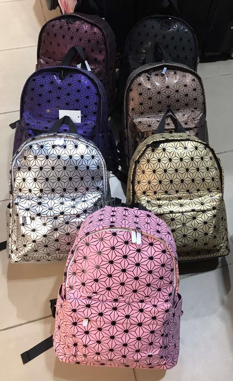 Женский рюкзак  геометрия,  геометрический узор молодежный городской