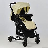 Детская прогулочная коляска с качалкой JOY Т-609 Бежевая
