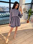 Платье принтованное с верхом на пуговицах и расклешенной юбкой vN8648, фото 3