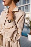 Льняний літній костюм з вільною сорочкою і кюлотами vN8682, фото 5