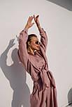 Льняний літній костюм з вільною сорочкою і кюлотами vN8682, фото 6
