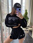 Женский летний велюровый костюм с шортами и свитшотом vN8704, фото 2