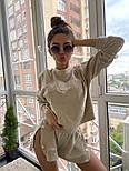 Женский летний велюровый костюм с шортами и свитшотом vN8704, фото 4