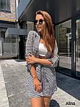 Женский летний костюм с шортами и пиджаком в принт vN8749, фото 2