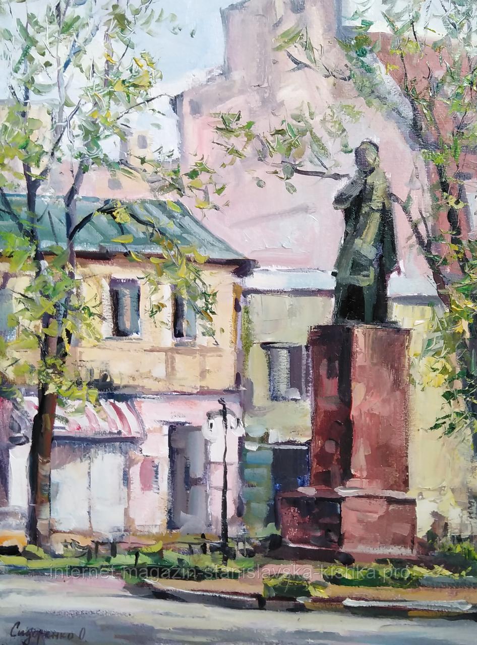 """Живопис """"Пам""""ятник Міцкевичу"""" 30*40 полотно олія"""