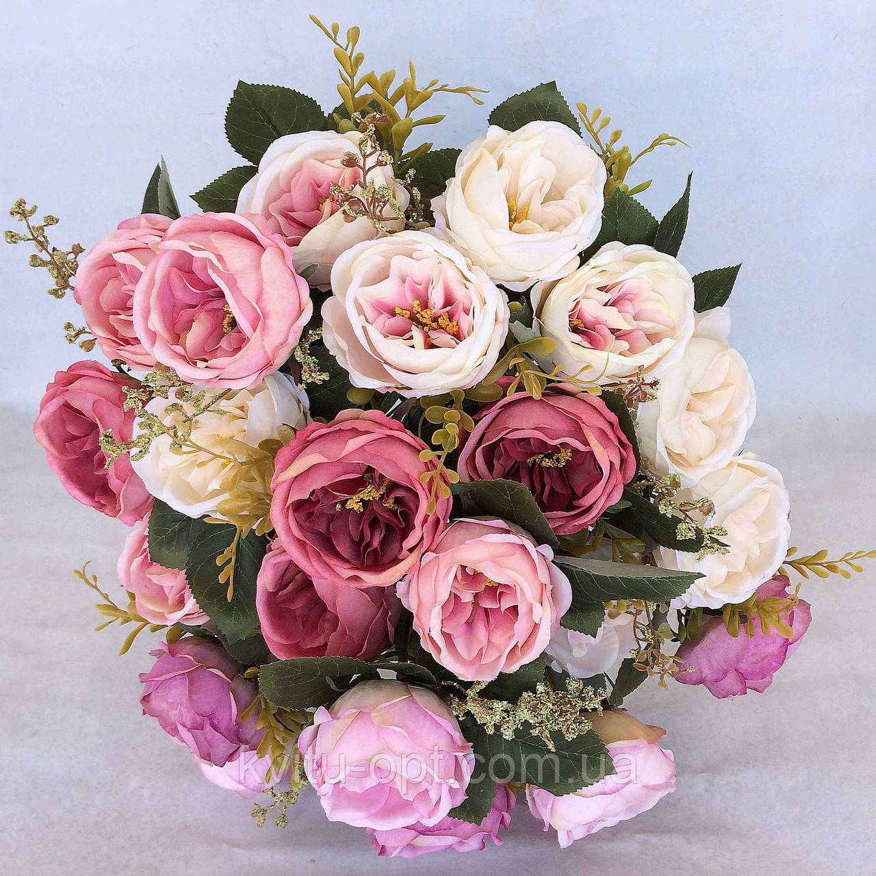 Букет искусственной  роза Остина 46 см
