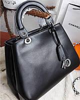 Женская кожаная сумка Натуральная кожа Только черный  Диор