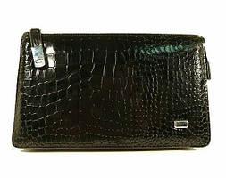 Клатч мужской кожаный черный 9051