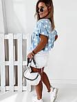 Женская футболка, софт, р-р универсальный 42-46; 48-52 (голубой), фото 5