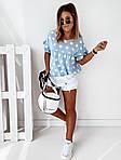 Женская футболка, софт, р-р универсальный 42-46; 48-52 (голубой), фото 4