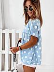 Женская футболка, софт, р-р универсальный 42-46; 48-52 (голубой), фото 3