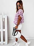 Женская футболка, софт, р-р универсальный 42-46; 48-52 (сиреневый), фото 3