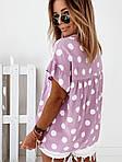 Женская футболка, софт, р-р универсальный 42-46; 48-52 (сиреневый), фото 4
