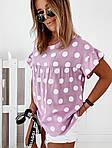 Женская футболка, софт, р-р универсальный 42-46; 48-52 (сиреневый), фото 2
