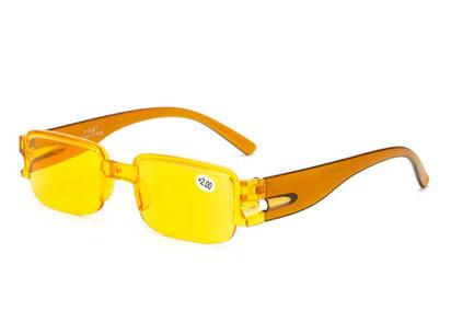 Очки для зрения желтые безободковые диоптрия +1,00