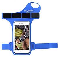 Чехол на запястье для смартфона Floveme спортивный синий