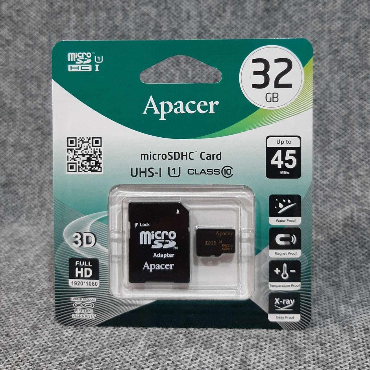 Карта памяти Apacer microSDHC 32GB сlass10