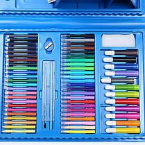 Набор для рисования с мольбертом 208 предметов Голубой Чемодан творчества, фото 3