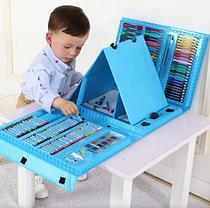 Набор для рисования с мольбертом 208 предметов Голубой Чемодан творчества, фото 2