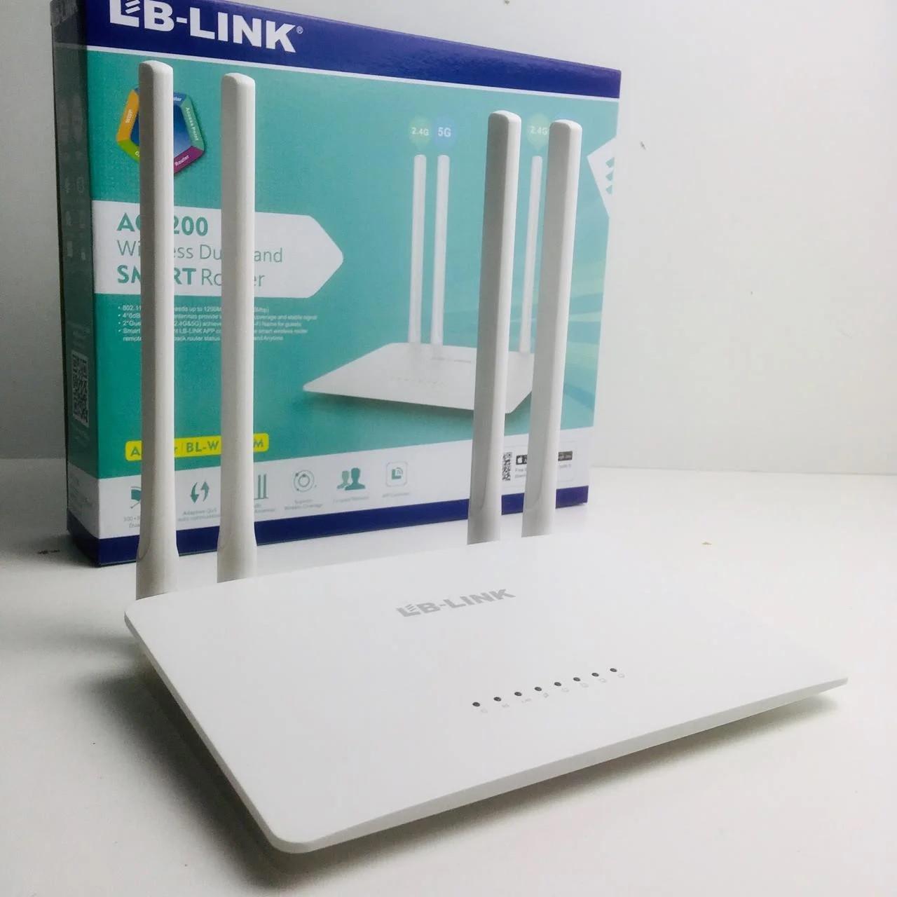 Wi-Fi роутер LB-Link BL-W121OM AC 1200Mbps, двухдиапазонный беспроводной сети маршрутизатор для дома