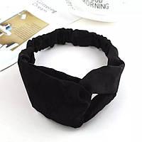 Повязка чорна черная на голову, эластичная резинка для волос, повязка на голову, аксессуары для волос