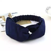 Повязка синя синяя на голову , эластичная резинка для волос, повязка на голову, аксессуары для волос