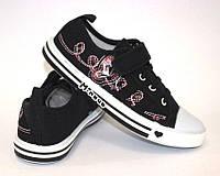 Детские летние кеды на шнуровке черные, фото 1