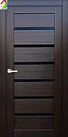 Двери межкомнатные RE44 Орех макадамия черное лакобель, дверь для квартиры, дверь для дома, дверь в офис.