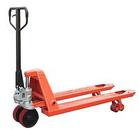 Ручные гидравлические тележки для перемещения паллет АС25Р1800, г/п 2500 кг, удлиненные вилы 1800 мм