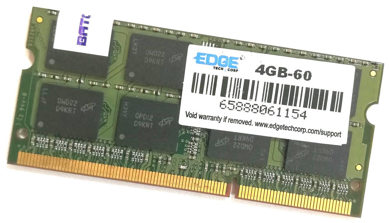 Оперативная память для ноутбука Edge SODIMM DDR3 4Gb 1066MHz 8500s 2R8 CL7 (4GB-60) Б/У