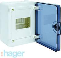 Щит GOLF 4-модуля з прозорими дверима VS104TD (накладної)