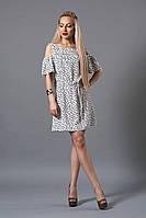 Стильное платье Камея из натуральной ткани, р 42,44,46,48 узелки
