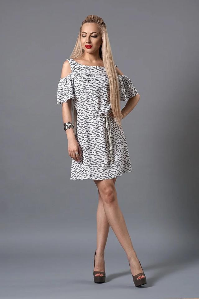 Платье мод. 237-5,размер  44,46,48 голубое, фото 1