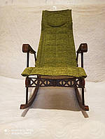 Кресло качалка с лечебной функцией салатовое
