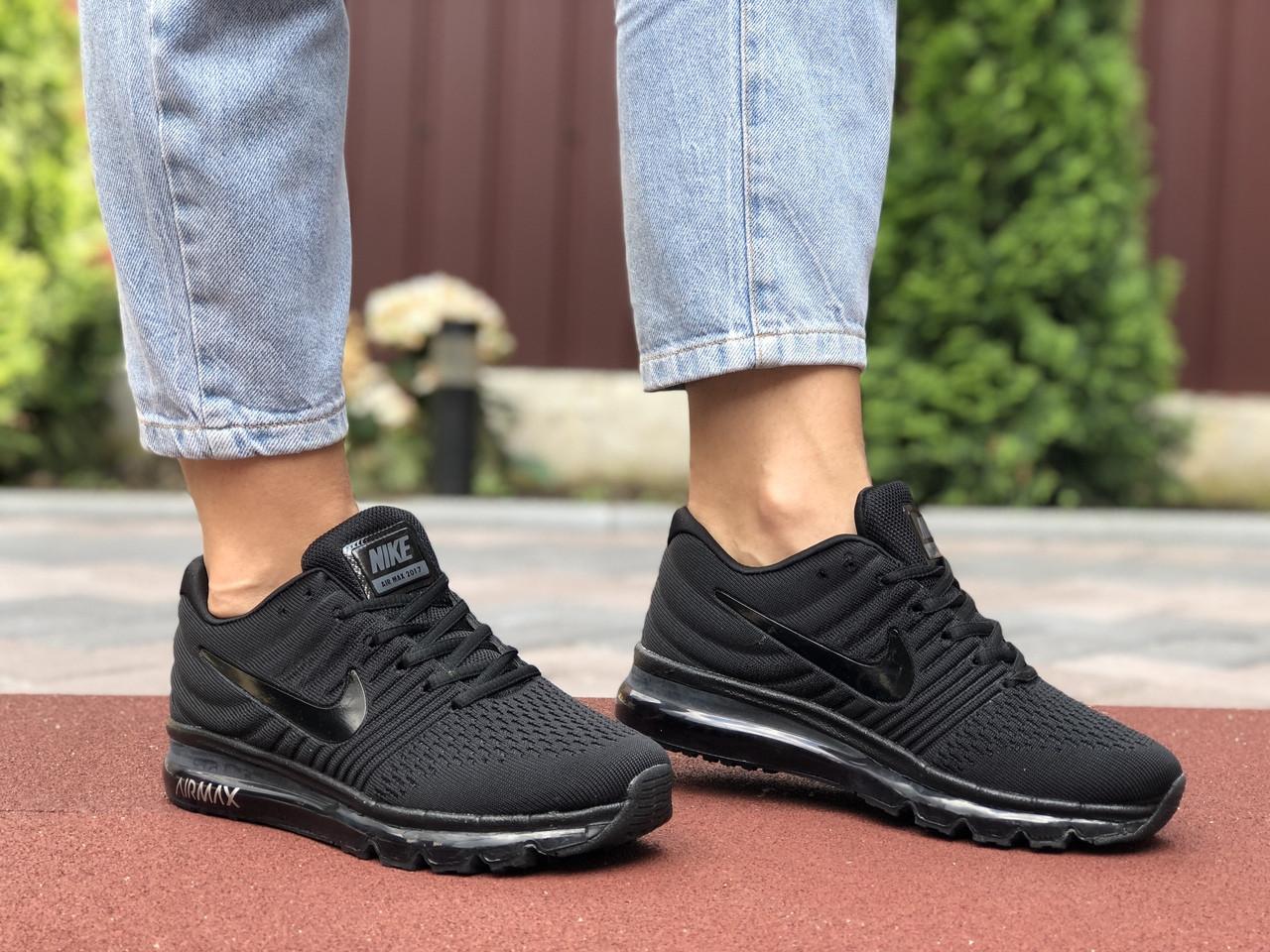 Кроссовки женские Nike Air Max. Стильные женские кроссовки черного цвета.