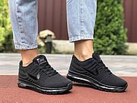 Кроссовки женские Nike Air Max. Стильные женские кроссовки черного цвета. , фото 1